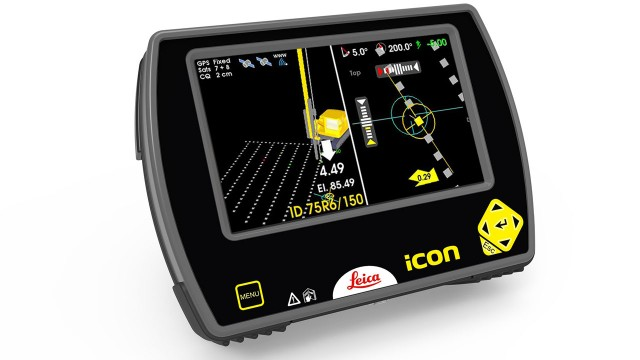 Leica iCON rig solution incorporated into Liebherr foundation machinery