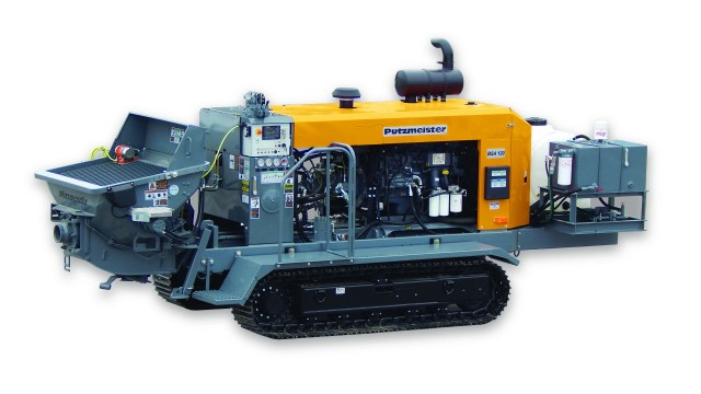 Putzmeister America Expands Small Line Offerings  with Optional Track-Mounted Machines