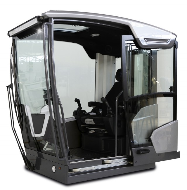 Fuchs' award-winning Fox cabin includes a downward facing windshield and sophisticated ergonomics.
