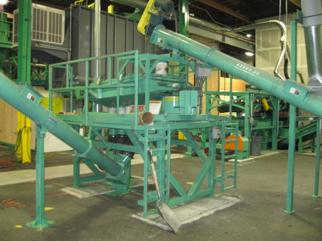 Granutech's integrated tire processing system.