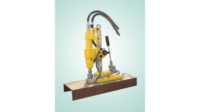 Drill up to 4-inch holes with magnetic drill