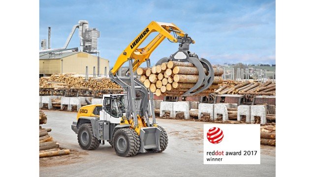 Liebherr L 580 LogHandler XPower earns Red Dot Award for product design