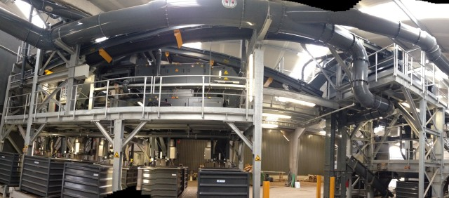 At Galloo, the recycling system is arranged in a cascade for integration into a combined facility.