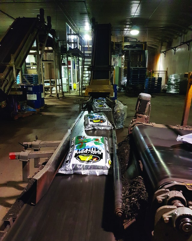 About six million bags of high-quality compost and other organic products are produced yearly, mainly at Envirem's facility in Miramichi, New Brunswick