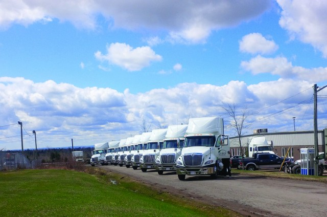 Envirem runs a fleet of 40 trucks, using KEITH walking floors and mainly MAC and Manac trailers