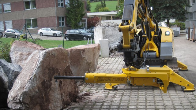 Rock splitter offers safer, quieter alternative to breakers and explosives