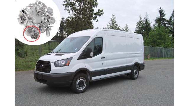 Underhood compressor for Ford Transit Ecoboost commercial van