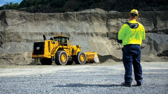 Caterpillar's Command for Loading is a remote control system for the Cat 988K large wheel loader.