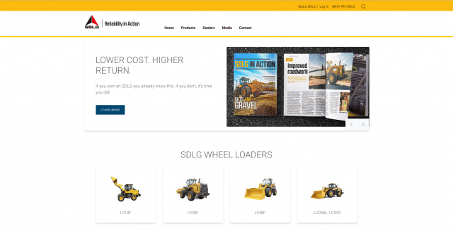 SDLG launches new website for North America