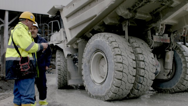 Rigid dump truck tires allow higher load capacity or faster speeds