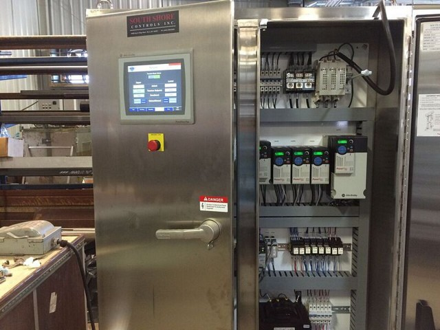Electrically actuated belt tracking and tensioning systems are controlled by onboard programmable logic controllers (PLC's) in the Belt Press panel.