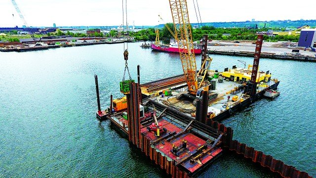 Sheet Pile Walls  Drive Hamilton Harbour Cleanup