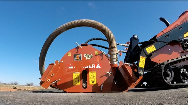 Microtrencher attachment designed for productivity on fibre jobsites
