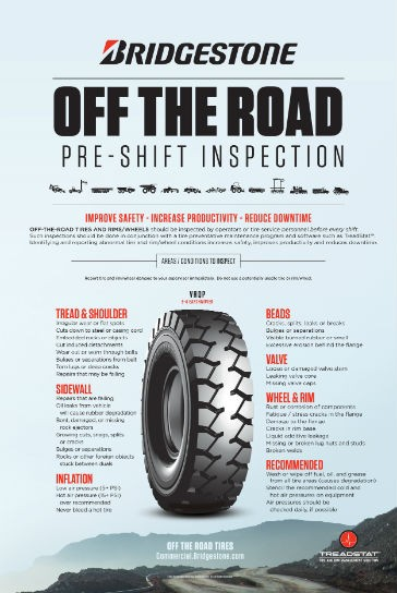 Tire inspection resources available from Bridgestone