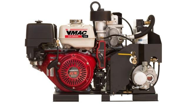 Gas engine driven air compressor now Honda powered
