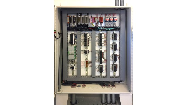 The Bedrock control system, installed in the top left-hand corner of a system box.