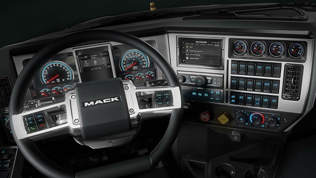 Mack Trucks updates it's interiors for driver comfort and ease of use