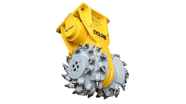 Cyclone rock and concrete grinder