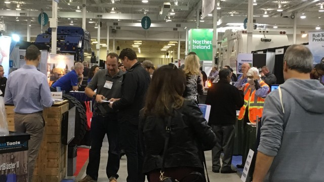 On the Waste & Recycling Expo Canada show floor in 2016.