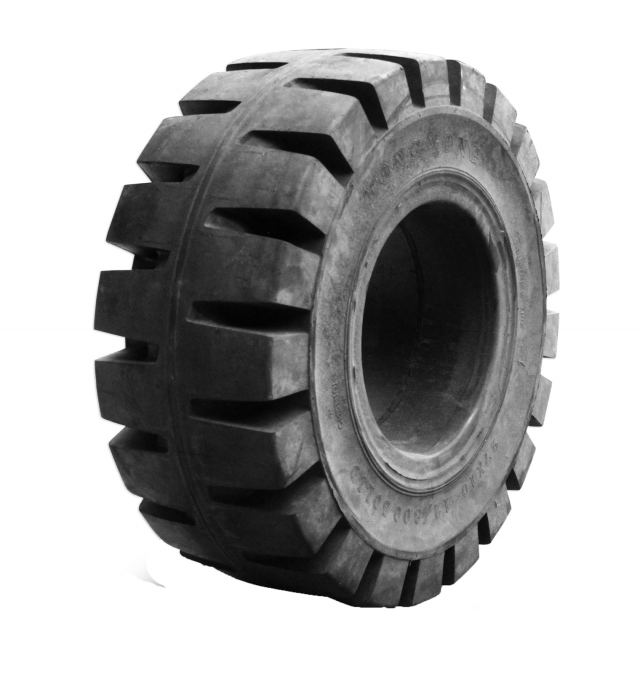 TY Cushion solid tires are designed to achieve up to 2.5 to 4 times the life of a pneumatic tire and are available in a complete line of tread patterns.