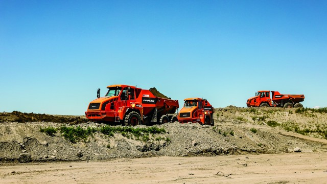 Articulated trucks critical to keep a major project on schedule