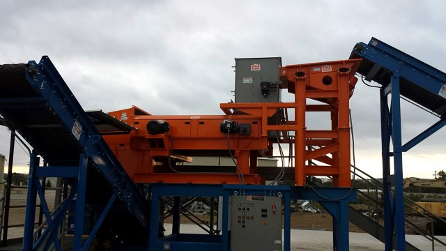 Eriez RevX-E eddy current separator working in Ohio.