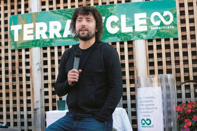 Tom Szaky, CEO and founder of TerraCycle Inc. was featured on the cover of Recycling Product News, May/June 2015.