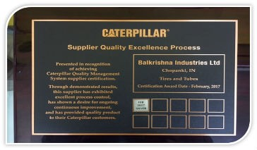 BKT receives Silver Award from Cat for Supplier Quality Excellence Process