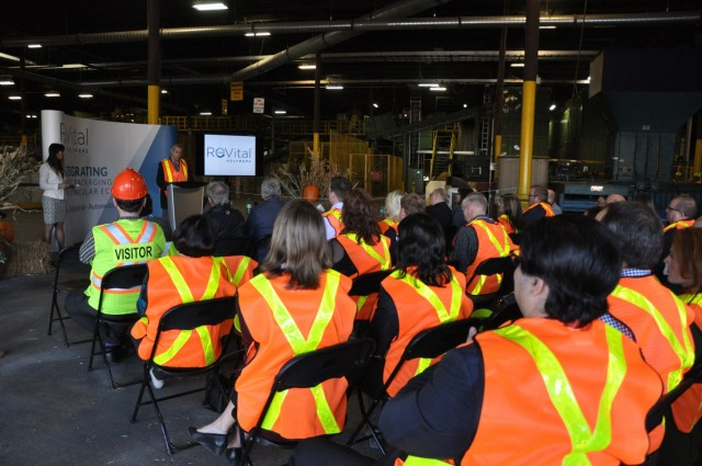 ReVital president Tony Moucachen speaking at the grand opening of the new facility in Sarnia, Ontario.