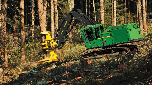 Deere equips feller bunchers and harvesters with Final Tier 4 engines