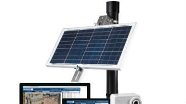 Solar-powered job site security projects integrated with BIM 360