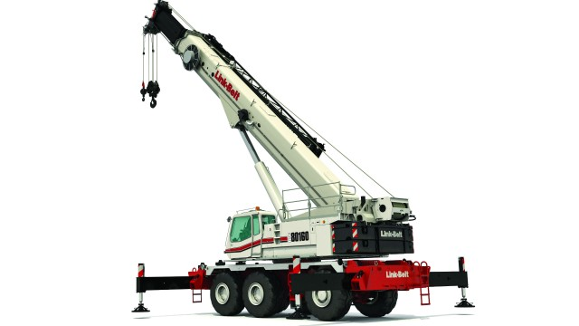 Link-Belt introduces updated 160-ton rough terrain crane