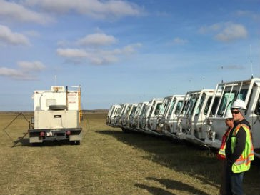 Seismic survey achieves record trace densities
