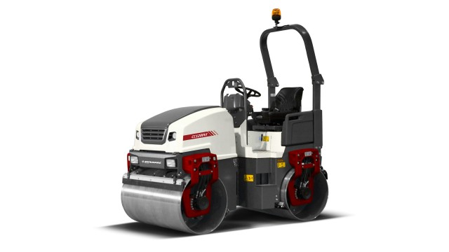 Small asphalt rollers meet tough conditions