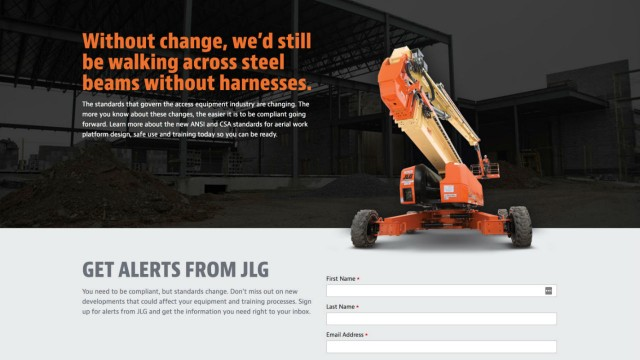 JLG offers site to help customers understand ANSI, CSA updates