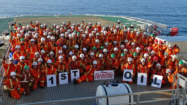 Hebron project produces first oil