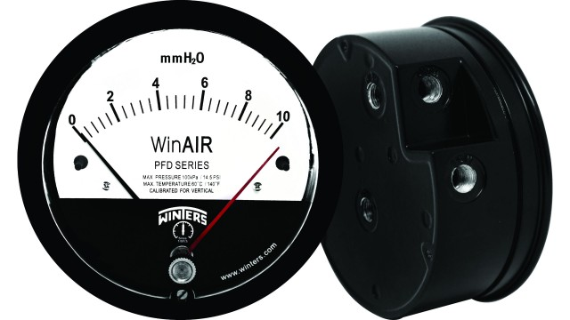 Differential gauge suitable for all air and non-corrosive gas installations