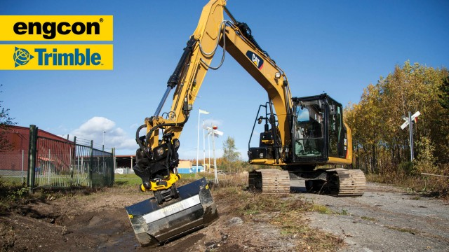 Engcon supports Trimble excavator guidance system