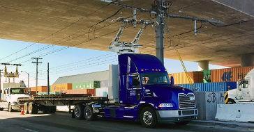 Mack demonstrates catenary vehicle near California ports