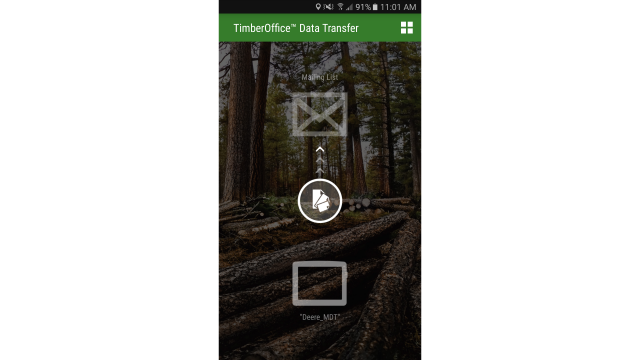 Smartphone app simplifies data transfer from forestry machines