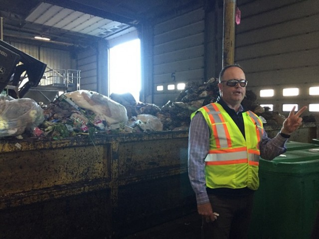 Director of Organic Solutions for Green for Life, Don Francis, at the Depackaging Facility in Calgary, AB.