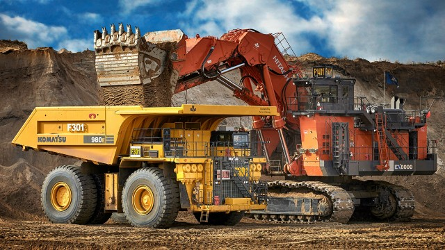 A mining truck and shovel at Suncor's Fort Hills facility. Photo courtesy Suncor.
