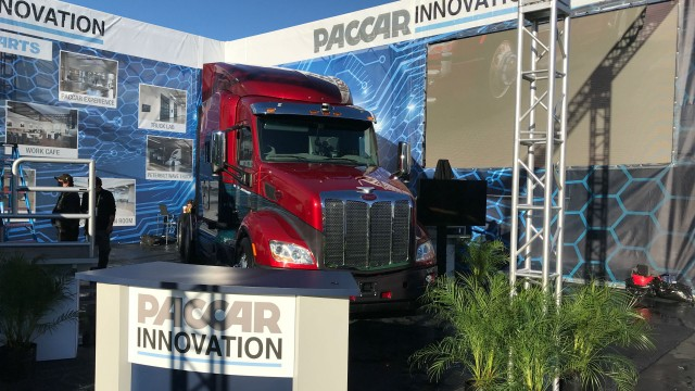 Peterbilt shows off advanced technology drive at CES