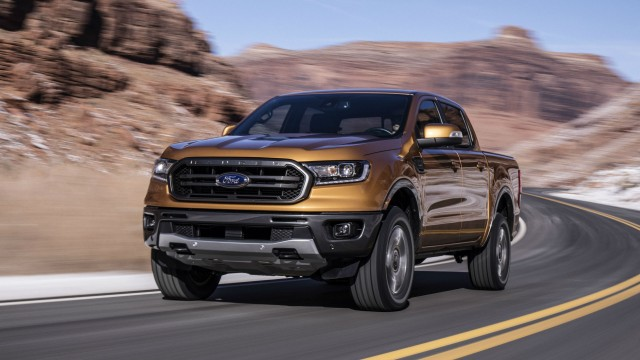 The 2019 Ford Ranger is a rugged mid-size pickup ideal for off-road use.
