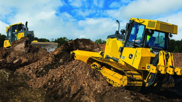 John Deere 650K dozer with SmartGrade technology.