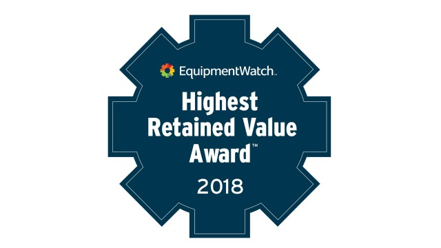 EquipmentWatch names 2018 Highest Retained Value Award finalists
