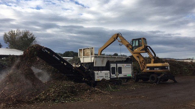 Terex Ecotec's TDS 820 Slow Speed Shredder.