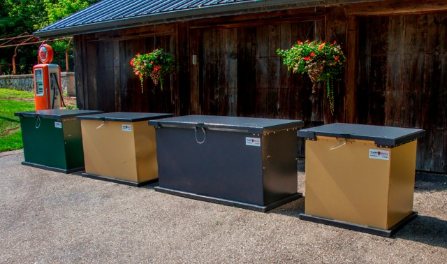 TuffBoxx family of lockable, animal-resistant containers designed to keep waste and recyclables safe for collection