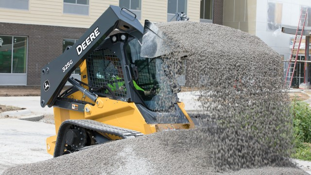 The new models have the same pressurized cabs of their large-frame counterparts, designed to keep out excess dust and noise, but are built with a smaller width and weight for tighter jobsites.