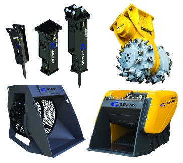 The Impact Tools Group from Genesis Attachments.